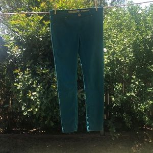 Vanilla star jeans size 6 skinny fit teal color